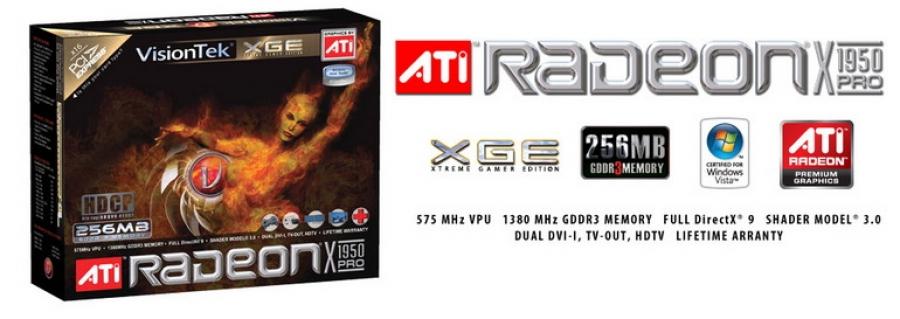 Radeon X1950 Pro AGP Video Card