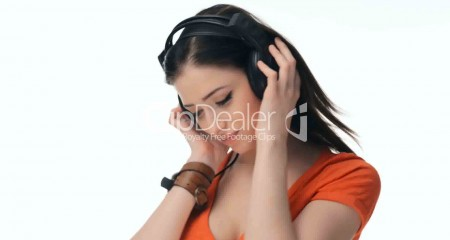 Sexy Woman with Headphones